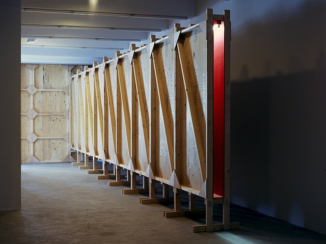 Red Corridor Site specific installation. Original version created in 1982