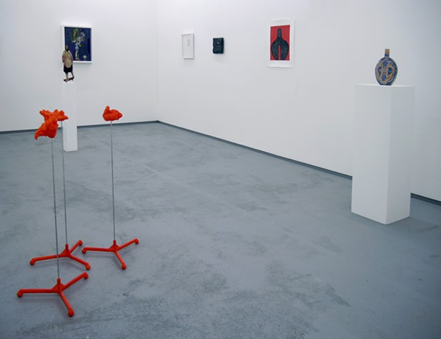 Gallery installation view. Floor Crumples, orange version, 2014 – 2016