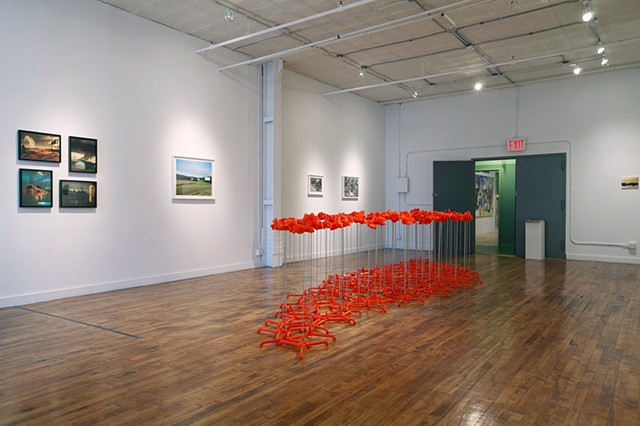 100 Floor Crumples, orange version, 2014 – 2016