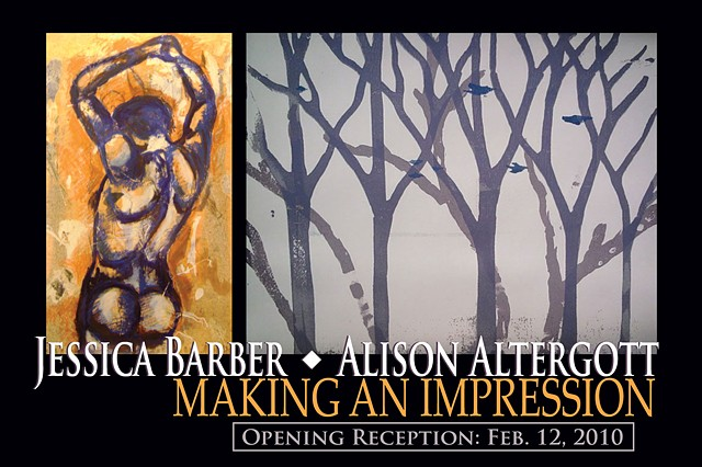 """""""Making an Impression"""" (Solo Exhibition Postcard)"""