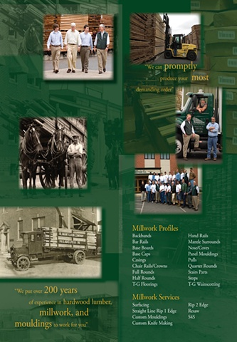 Hardwood Lumber Company Tri-Fold Brochure (Interior layout)
