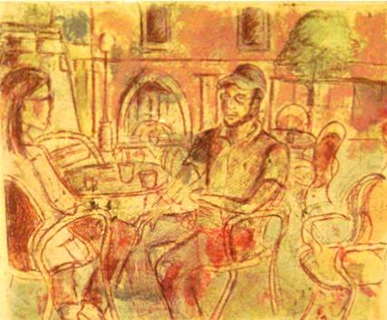 Cappuccino at Plaza della Repubblica