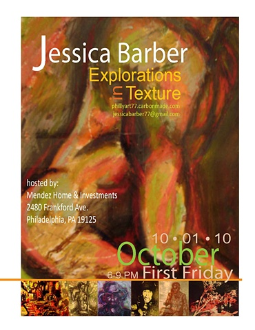 """Explorations in Texture"" (Flyer for self promotion)"