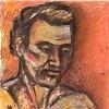 Portrait Study in Orange