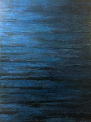 Oil painting of the ocean by Becky Kisabeth Gibbs