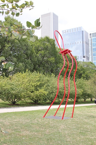 Red Dancer finds home in Chicago located in Grant Park overlooking the marina at Monroe.