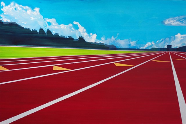 Track (one point perspective)