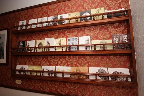 postcard shelf