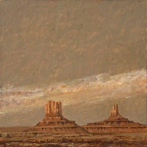 painting, monument valley, plein aire, arizona