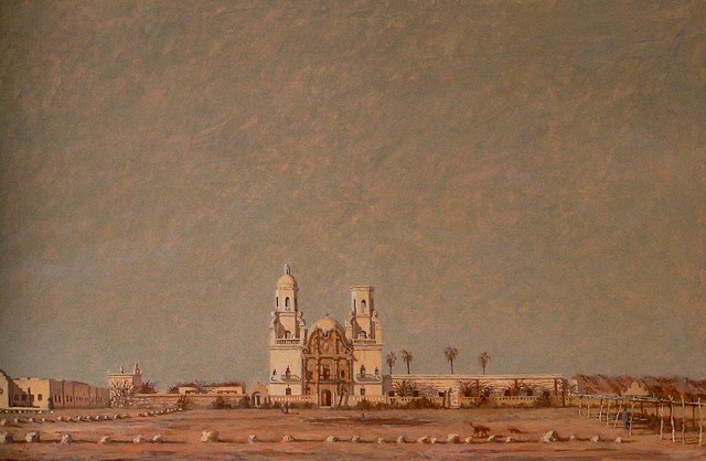 painting brian h reynolds plein air art san xavier arizona