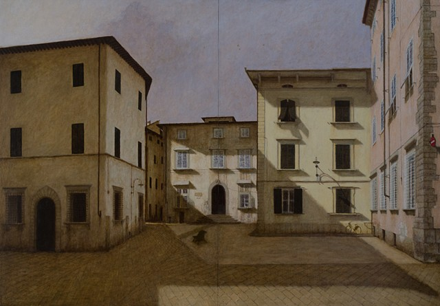 italy, pescia, oil on panel, architecture, plein aire