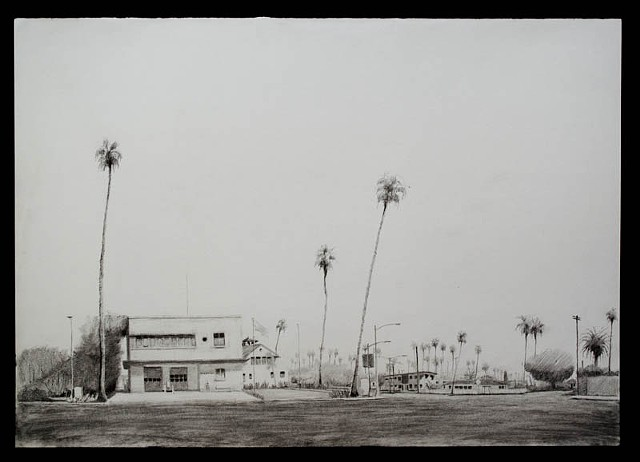 graphite on paper, venice, california