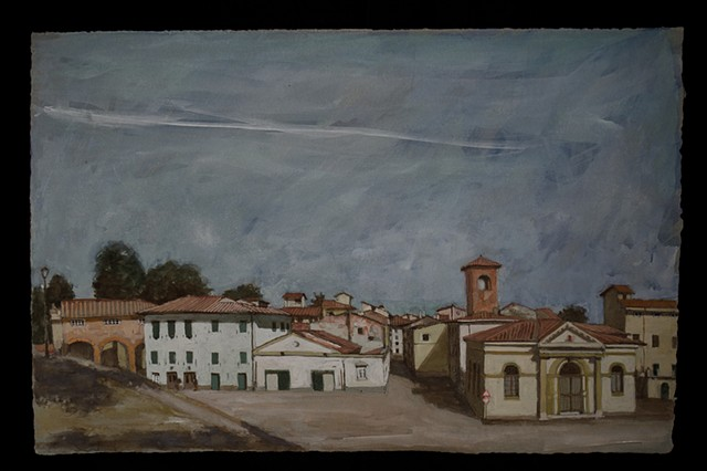 italy, plein air, landscape, Lucca