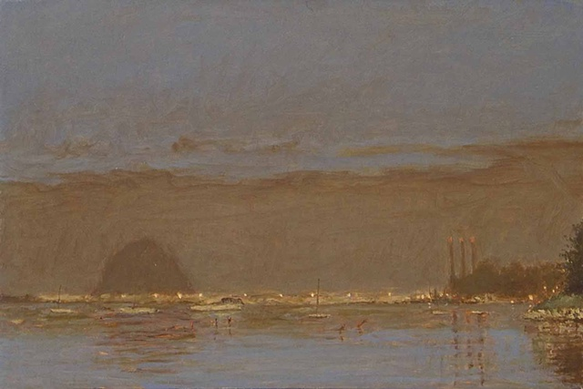 painting Morro Bay California plein aire