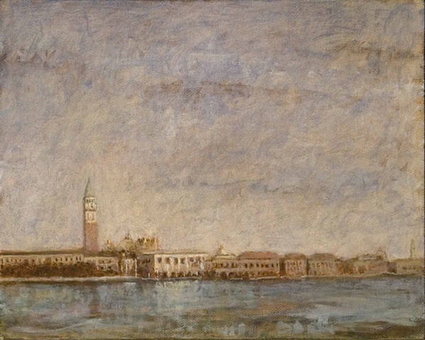 painting by brian h reynolds Venezia plein aire Italy