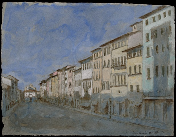 italy, plein aire, buildings