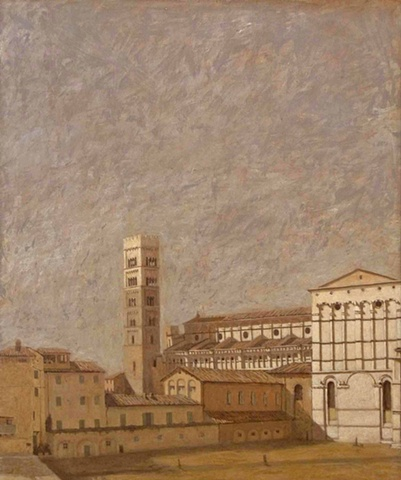 Campo San Martino Lucca Italy painting duomo plein aire