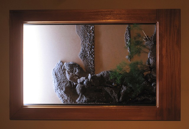 shadowbox fountain from a chinese painting