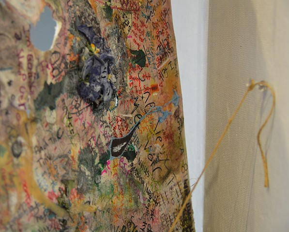 Dylan Pew, Painting I: Palimpsest, detail