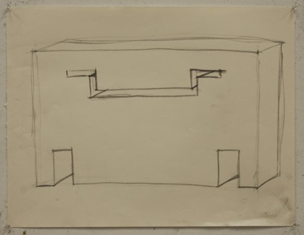 Unknown student, Drawing I: Drawing a Void (after Rachel Whiteread)