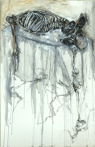 Kelsey Whitaker, Drawing II Still Life with Skeleton