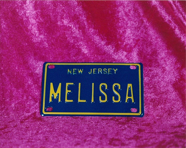 """""""Sense of Herself"""" (NJ License Plate) 1 out of over 750 different images 1995-present"""