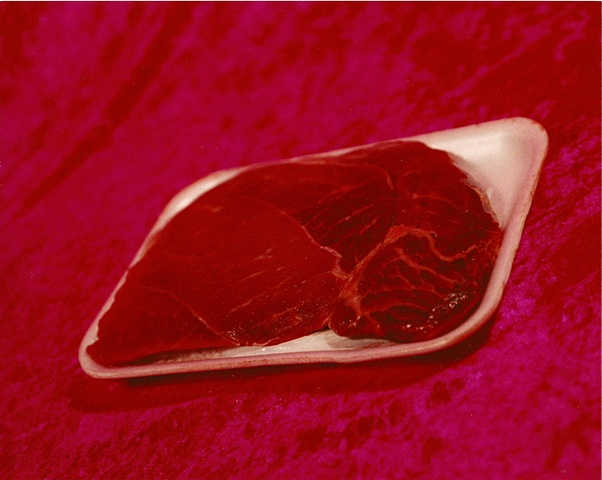 """Sense of Herself"" (Package of Meat) 1 out of over 750 different images 1995-present"