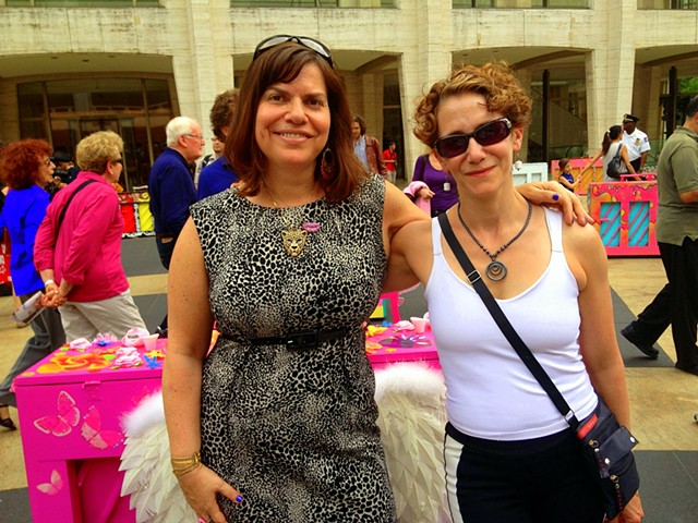 Beautiful Music (The Artist, Melissa Eder-left and BFF, Pamela Arm-right)
