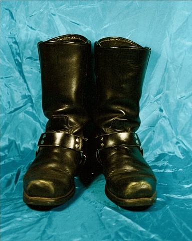 """Sense of Herself"" (Motorcycle Boots) 1 out of over 750 different images 1995-present"