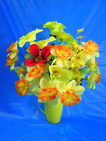 Can You Dig It? A Chromatic Series of Floral Arrangements (Blue)