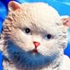 Luv Bunnies (Cat on Blue)