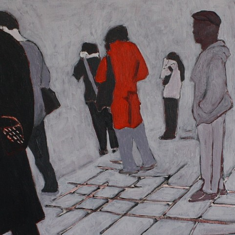 figures on subway platform
