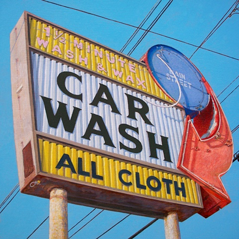 car wash painting of urban landscape art Art Essex by Art Ballelli