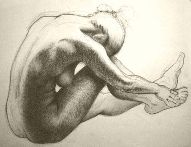 untitled (charcoal figure study)