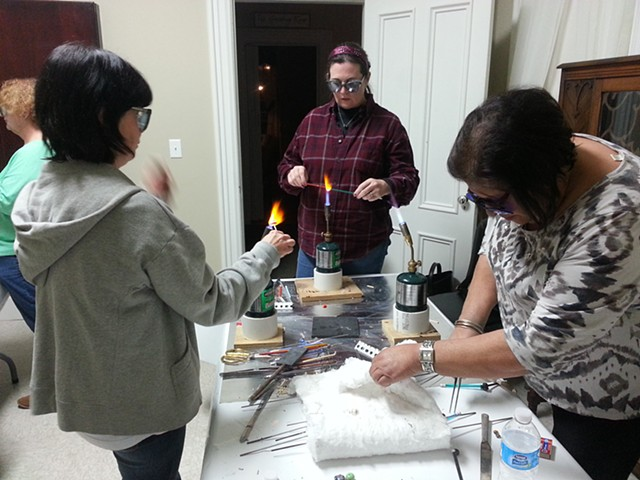 Beadmaking Class at the Yellow House Community Learning Center