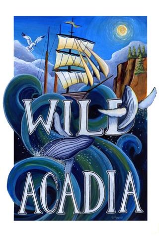 Mock Acadia National Park Brochure