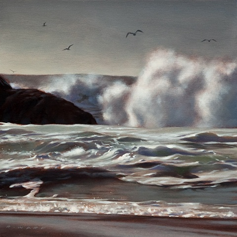 Sea Spray and Gulls