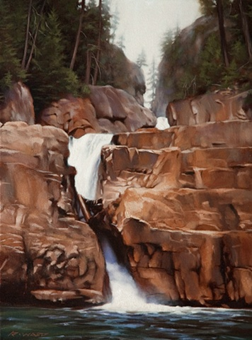 """Lower Myra Falls, Late Summer"""