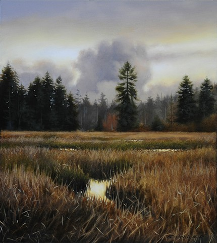 Tidal Marsh in Autumn Light