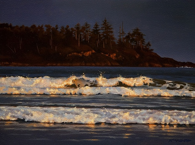Warm Light on Evening Surf