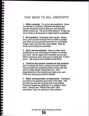 Sample Page on Creativity