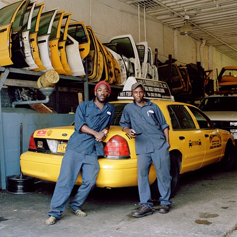 Issa and Lamine, Taxi Mechanics, Upper West Side, New York.