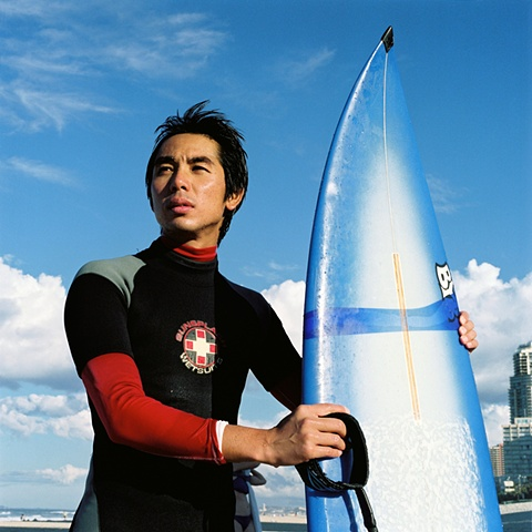 Japanese Surfer, Gold Coast, Australia.