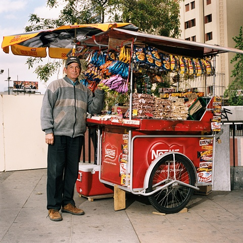 Snack Stand, Baquedano Station, Santiago, Chile 2006