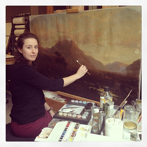 Sandy, Conservator of Paintings, NGV International, VIC.