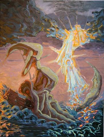 John Burkett Painting Fata Morgana Rereh Saglo