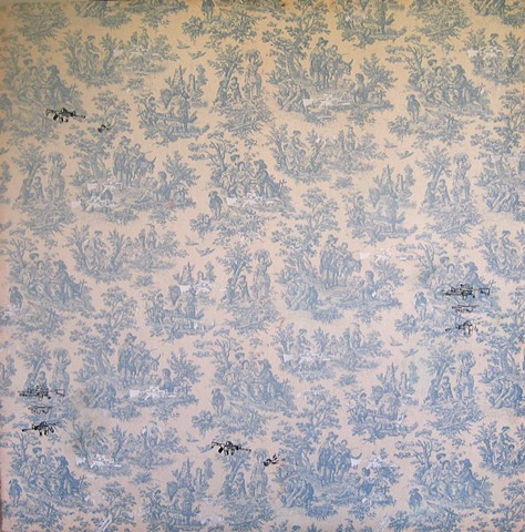 Gun Toile (Collection of Elizabeth and Bryan Resnick)