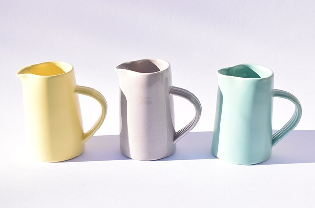 Small milk jugs to enhance your breakfast table.