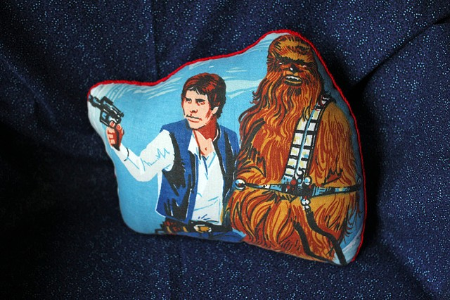 Han Solo & Chewbacca Pillow