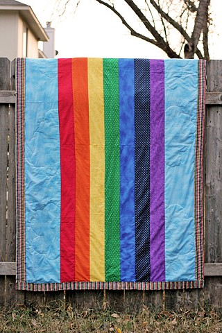 Rainbow Quilt - Custom order for Lucy